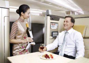 Repas à bord Asiana